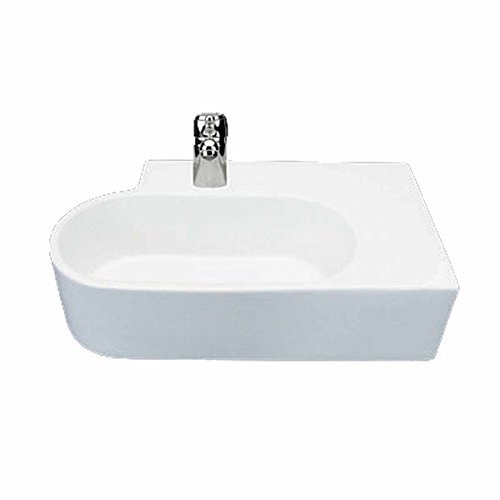 Bathroom Sink Vessel White Wall Mount Edwin Compact Easy Clean And Install Vessel Sinks by Renovator's Supply