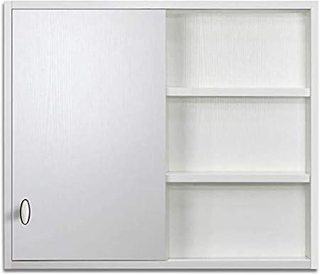 LJA Nórdica Estilo Casero Moderno Mueble de Baño, Armarios con Espejo de Baño Oculta con la Pared Del Dormitorio Puerta Armario Que Cuelga Puerta Corrediza de Baño (Color: Blanco, Tamaño: 80 *