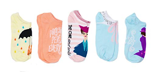Disney Mary Poppins Returns 5 Pack Ankle Socks Size 4-10