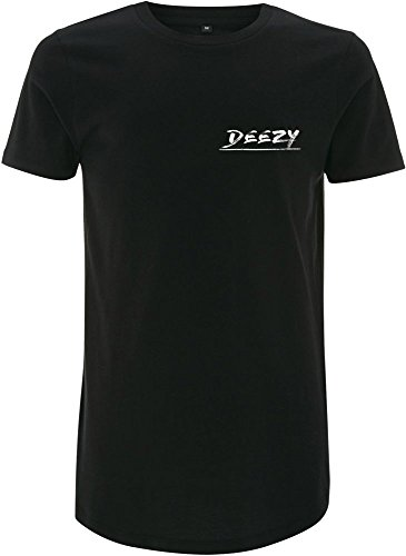 Simon Desue Original Unisex Flag Long Tee aus 100% Baumwolle in Schwarz