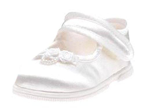 Déambulateur pour enfant Blanc satiné chaussures de mariage ou un baptême