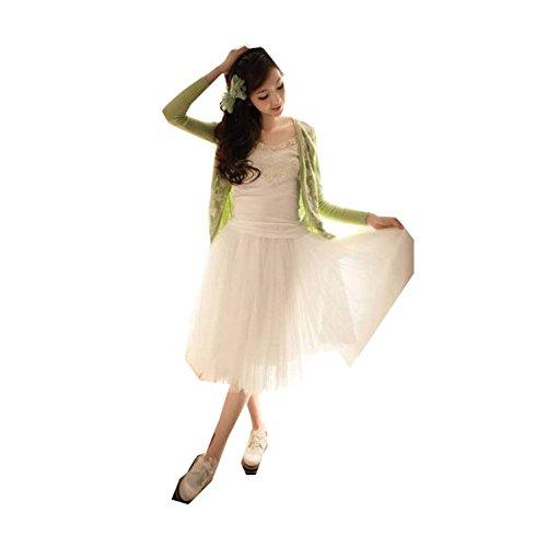 Youcanshine Femmes mariage fte danse classique taille lastique maxi t 5 couche Jupe Tutu Longue Long Skirt Blanc
