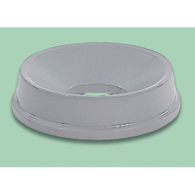 Rubbermaid Commercial Products Round Funnel-Top Trash Can Lid for Untouchable Containers, Gray, 16.2 in. -RCP354800GY ()