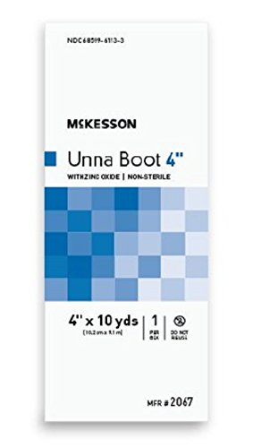 McKesson - Unna Boot McKesson 4 Inch X 10 Yard Cotton Zinc Oxide NonSterile - 12/Case - McK by McKesson