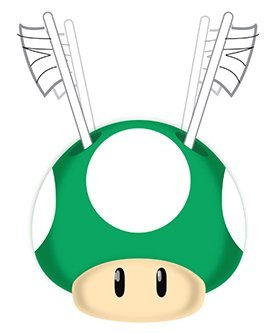 "Price comparison product image Super Mario ""Simply the Best"" Green Mushroom Toothbrush Holder"