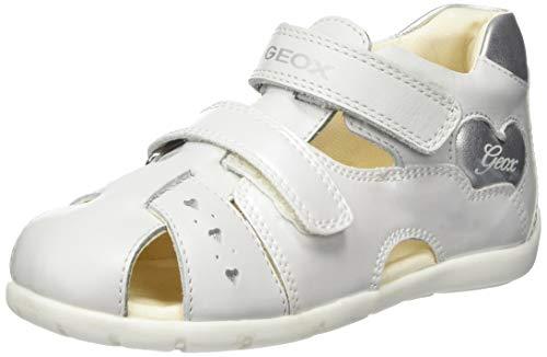 Geox Kids Baby Girl's Kaytan Girl 53 (Infant/Toddler) White/Silver 21 M EU