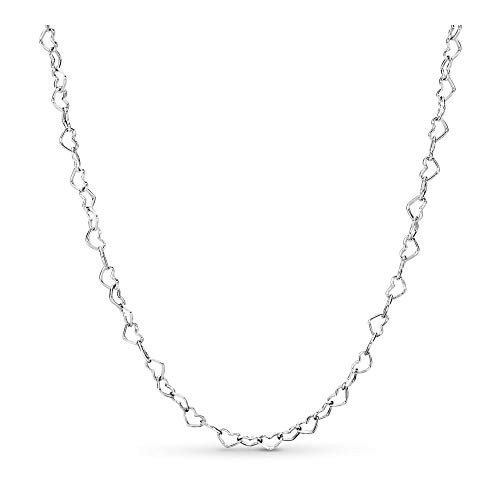 - PANDORA Joined Hearts 925 Sterling Silver Necklace, Size: 60cm, 23.6 inches - 397961-60