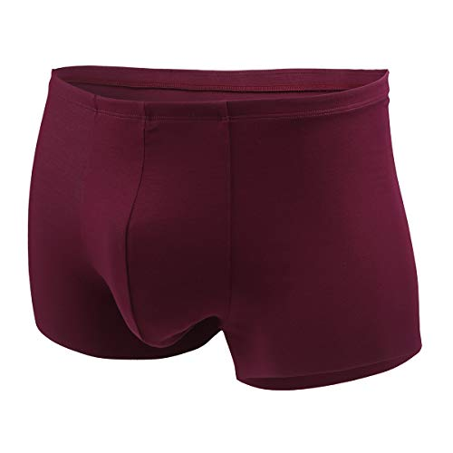 - Aimer Men's Seamless Trunks 270º No-Lines Super Soft Underpants Red