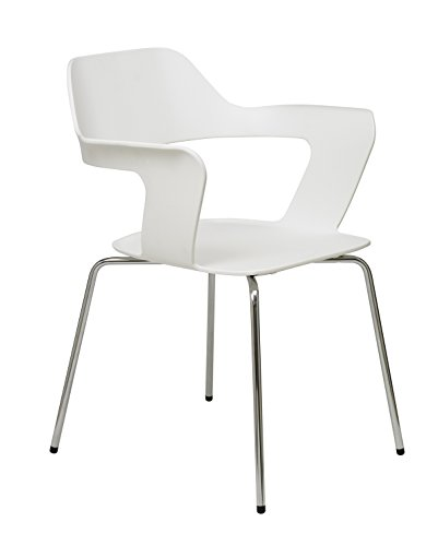 KFI Seating 2500CH-White Julep Series Stack Chair with Flex Poly Shell