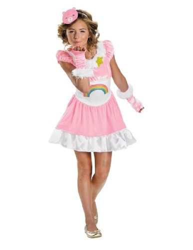 Cheer Bear Costume - Medium (Adult Care Bears Cheer Bear Costume)