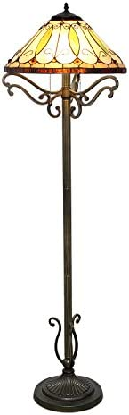 Serena D italia Arroyo Tiffany Style Floor Lamp