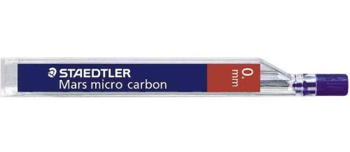 24 Staedtler Mars Micro Mechanical Pencil Leads 0.5mm 2H (2 Tubes of 12)