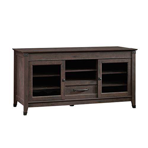 Sauder Carson Forge Entertainment Credenza, For TV s up to 60 , Coffee Oak finish