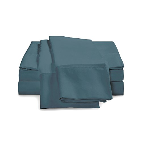 eLuxurySupply 5 Piece Percale Pillowcases Included