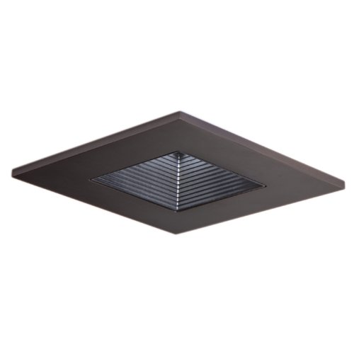 Halo Recessed 3011TBZBB 3-Inch 15-Degree Trim Adjustable Square with Black Baffle, Tuscan Bronze
