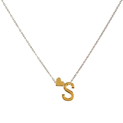 TOPUNDER Fashion Women Gift 26 English Letter Name Chain Pendant Necklaces Jewelry Mother's Day (S)