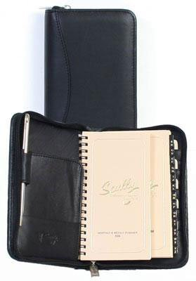 scully-leather-zip-pocket-agenda-soft-plonge-5008z-organizerblack