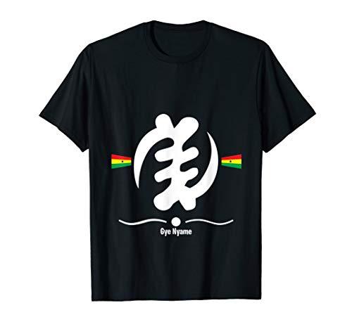 Ghana Flag T Shirt Gye Nyame Adinkra Symbol