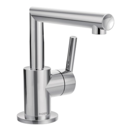 Moen S43001 Arris One-Handle Single Hole Modern Bathroom Faucet with Drain Assembly, Chrome ()