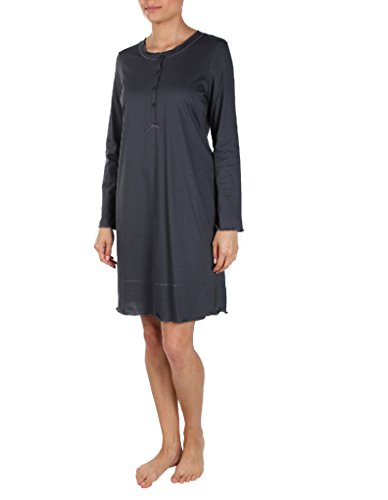 Rosch Cotton Made in Africa Anthracite Nightdress Long Sleeves 90 cm 1884022 24 UK/48 EU by Rosch