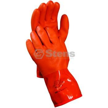 Stens 751-229 Atlas Snow Blower Gloves, PVC coated & fleece-lined, Remains flexible down to -4 degrees F, X-Large, Red