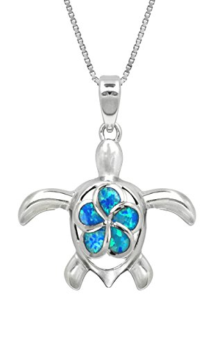 Sterling Silver Necklace Pendant Simulated