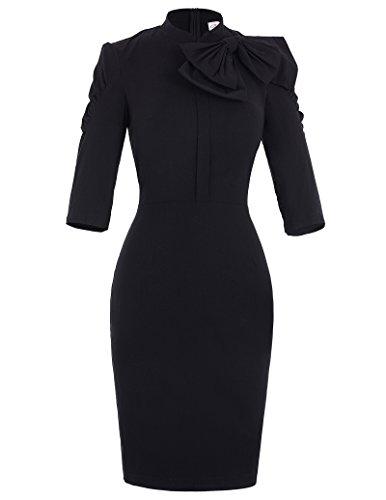 Sleeve Bowknot Women Dresses - 2