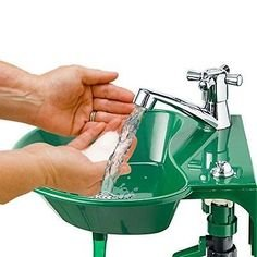 2 in 1 Outdoor Sink and Drinking Fountain Sprayer Small Garden by eXXtra Store