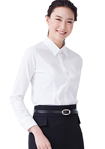 - LEONIS Women's Premium Stretch Easy Care Long Sleeve Slim Fit Shirt White (M [8]) [ 42085 ]