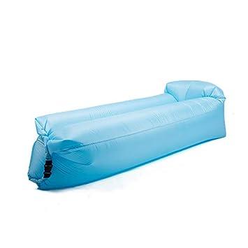 SOFA GGCG Sofá Cama Inflable, portátil de Aire Perezoso Sofá sofá Perezoso sofá Cama Saco de Dormir Inflable 3 Colores 176cm: Amazon.es: Hogar
