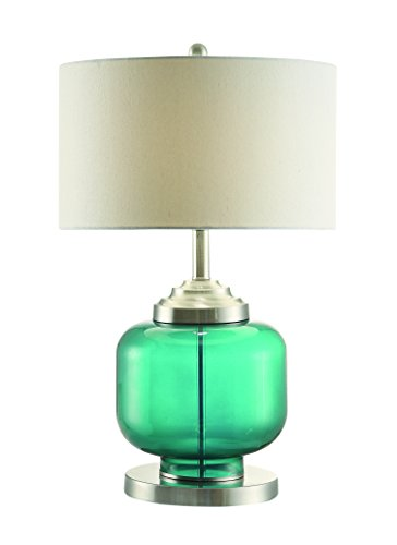 Coaster 901561 Home Furnishings Table Lamp, Teal/Chrome - Create the perfect home office with this collection that has everything you need in the same style and color finish The desk has a printer sliding drawer for easy access It has Easy Access - lamps, bedroom-decor, bedroom - 31B4KCoZcyL -