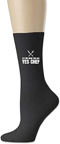 Let Me Hear You Say YES Chef Novelty Crazy Crew Socks Cotton Socks Men Gifts