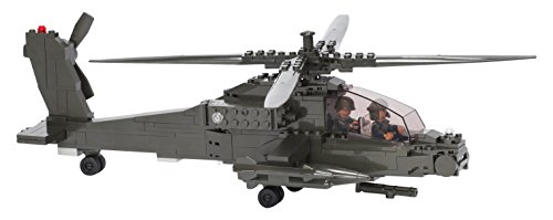 Ultimate Soldier Attack Helicopter Military Building Kit, Green