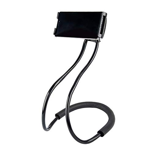 Cell Phone Holder,Bhbuy Lazy Hanging on Neck Mobile Phone Stand,Flexible DIY Hand Free 360° Rotation Mounts with Multiple Function For Mobile 3.5-6.3 inch Random Color