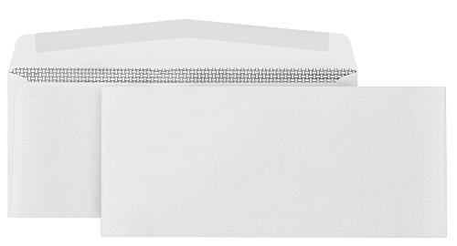 500 #10 Security Envelopes-Gummed Flap-Designed for Secure Mailing-Security tinted with Printer Friendly Design- 4 1/8 x 9 ½''-Pack of 500
