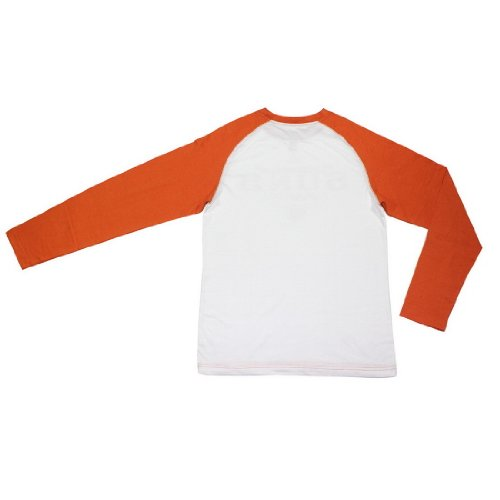 NBA PHOENIX SUNS Boys Comfortable Fit Long Sleeve Shirt (Vintage Look) M(10-12) White & Orange