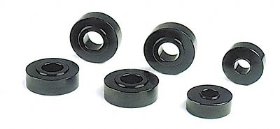 Competition Engineering C3027 Black Anodized Aluminum Body Mount Bushings - Set of 6 -