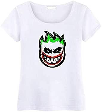 Round Neck Little JokerT-Shirt For Women