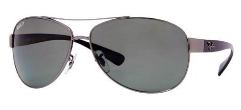 Ray-Ban Men's RB3386 Sunglasses Gunmetal / Polar Green - Ban Rb3386 Sunglasses Ray