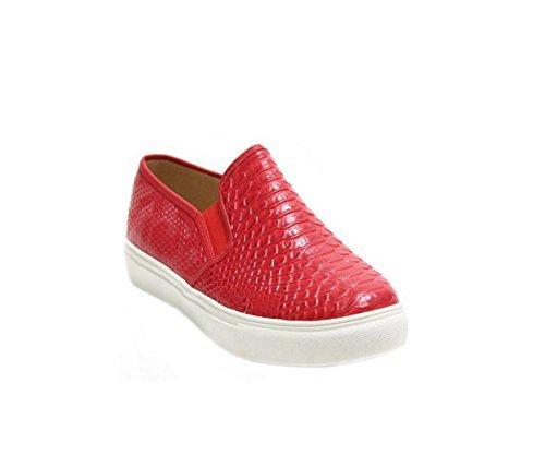 JustGlam - Scarpe Donna Sneakers slip ons effetto pitonato in ecopelle platform in gomma / Grigio 40 kE9n929