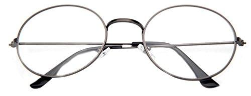 9aa41770dba La vogue Brille Nerdbrille Retro Rund Unisex Grau Linsebreite52mm ...