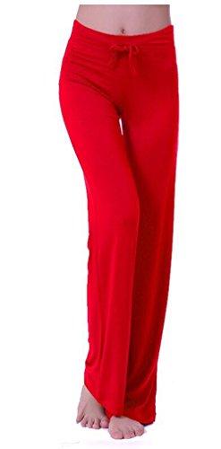 Red Womens Sweatpants - HOEREV Women's Soft Modal Slimming Lounge Pants Yoga Pants Pajama Pant,Red,Medium