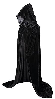 "VGLOOK Hooded Cloak Long Velvet Cape for Christmas Halloween Cosplay Costumes 59"""