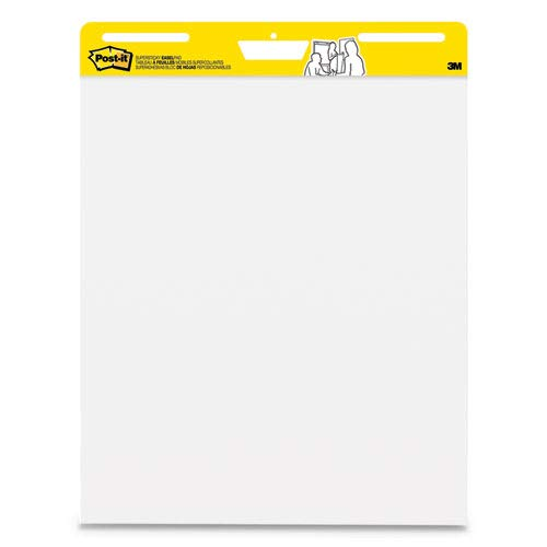 Self-Stick Wall Easel Unruled Pad, 25 x 30, White, 30 Sheets, 2 Pads/Carton, Sold as 2 Each by Post-it