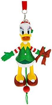 Disney Figurine Ornament - Santa`s Helper Daisy Duck Marionette