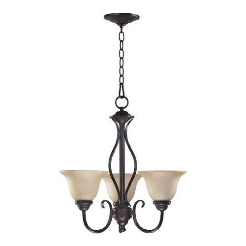 Quorum International 6010-3-44 Spencer 3LT Chandelier, Toasted