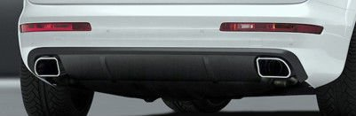 Caractere Brand Audi Q7 Rear Bumper Apron With Exhaust Tip Pair Brand New OEM Caractere Body