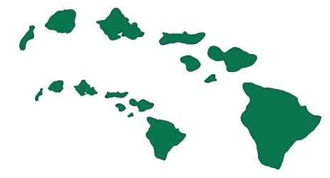 amazon com hawaiian island chain vinyl decal hawaii stickers yellow rh amazon com