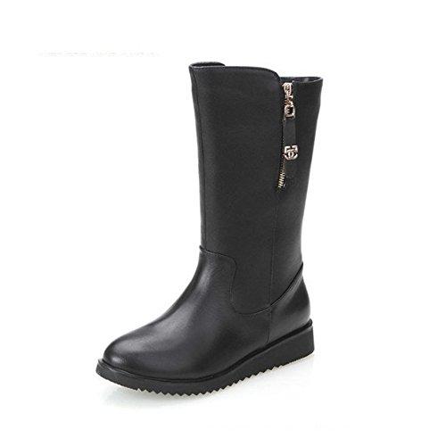 Women Fashion Boot Size Zipper Warm Flat Ankle Martin Boots By Btrada