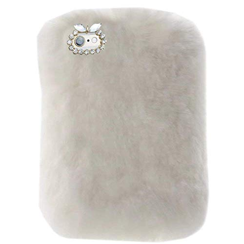Fire HDX 7 Tablet Cover, Winter Fashion Bling Rhinestone Fuzzy Faux Rabbit Furry Fluffy Beaver Rex Rabbit Fur Protective Case Amazon Kindle Fire HDX 7